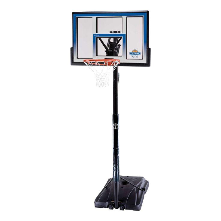 Lifetime Courtside Portable Basketball Hoop (48), Hyper Orange I/Black
