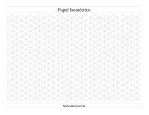Papel Isométrico de 1 cm (Horizontal) (A)