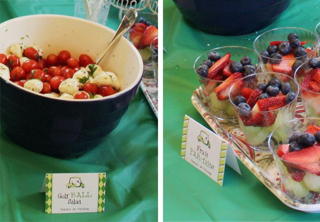 Golf party food ideas- B. Lovely Events #golf #party