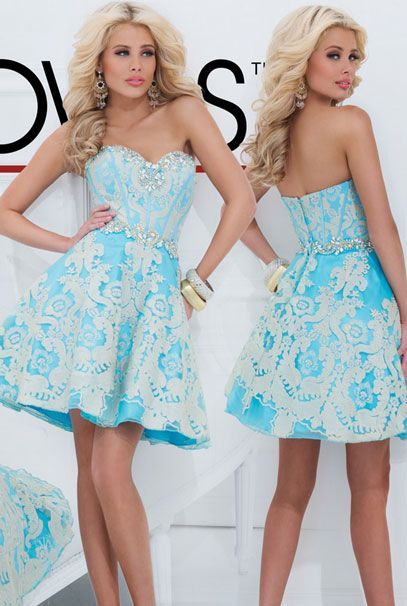 Короткие вечерние платья бирюзового цвета
