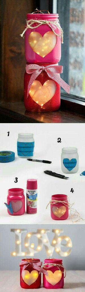 DIY para o casamento: use potinhos, tinta e moldes para fazer um porta-velas. Pode ser usado como decoração ou centro de mesa