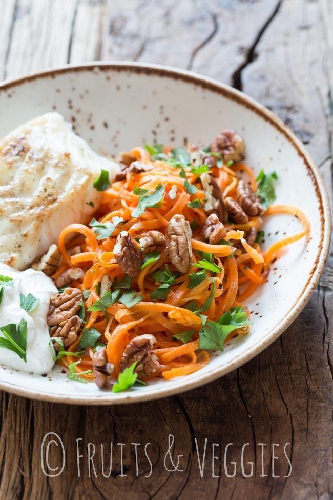 Dag #2 en recept wortel spaghetti met kabeljauw http://fruitsandveggies.nl/dag-2-en-recept-wortel-spaghetti-met-kabeljauw/