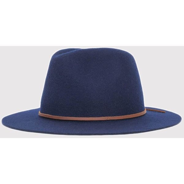 Brixton Wesley Fedora Hat - Navy ($64) ❤ liked on Polyvore featuring men's fashion, men's accessories, men's hats, men, navy, mens summer hats, mens fedora hats, mens fedora, mens summer straw fedora hats and mens hats fedora