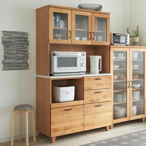 Pippi ピッピ アルダー材コンパクトキッチン キッチンボード 幅100cm|家具収納・インテリア雑貨専門 通販のハウススタイリング(house styling)