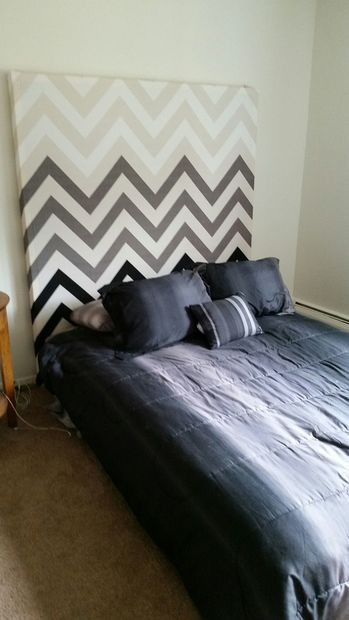 Easy diy decorative headboard easy diy modern and diy for Modern headboard diy