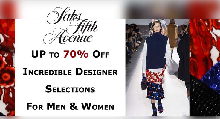 UP to 70% Off Incredible Designer for Men & Women at #SaksFifthAvenue  #Clothing #Dresses #Shirts #Fashion #Styles