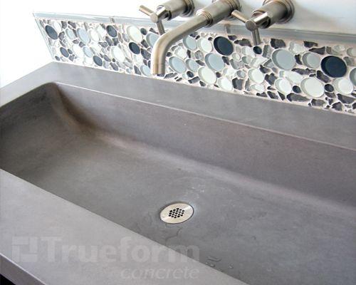 concrete trough sink, love it!