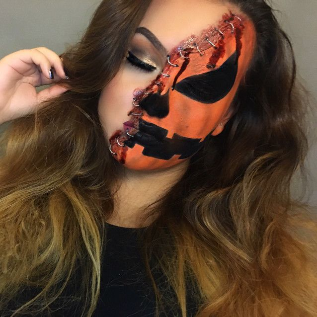 Gory Pumpkin Halloween Look by JennMelissa. Upload your Halloween selfie on Sephora's Beauty Board for a chance to be featured!