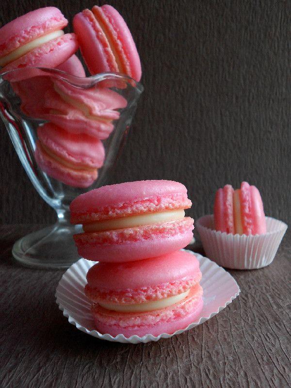 Strawberry White Chocolate Macarons