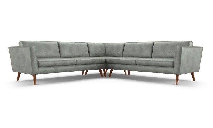 Deluna Leather Corner Sectional