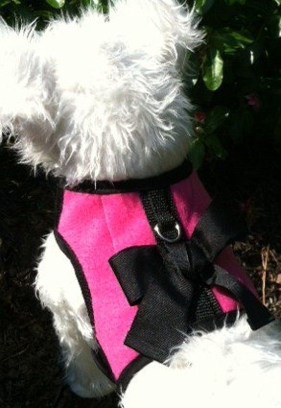 Any Color Fleece Small Dog Harness With Bow Made In Usa Dog