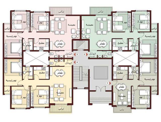 مخططات تصاميم شقق عماير عمارة إنشاء مباني هندسة معمارية Residential Architecture Plan Architectural Floor Plans Residential Building Plan