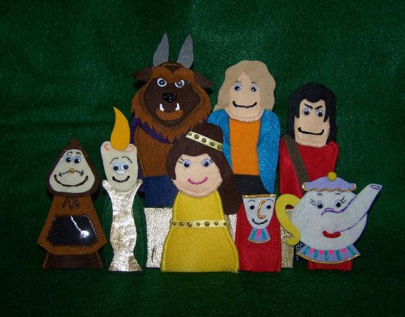Beauty and The Beast Felt Finger Puppets
