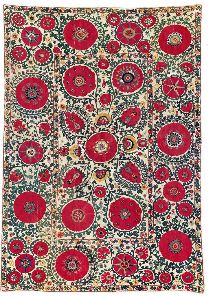 263 Best Antique Uzbek Suzani Images On Pinterest