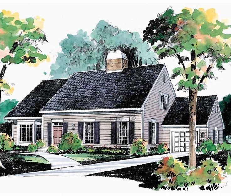 Eplans Cape Cod House Plan - Expandable Plan - 1782 Square Feet and 3 Bedrooms(s) from Eplans - House Plan Code HWEPL00529