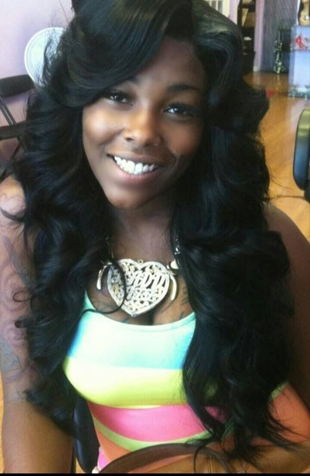 Sew In Hairstyle shoulder length natural cut sew in hairstyles Find This Pin And More On Sew In Hair By Beenvalidd28