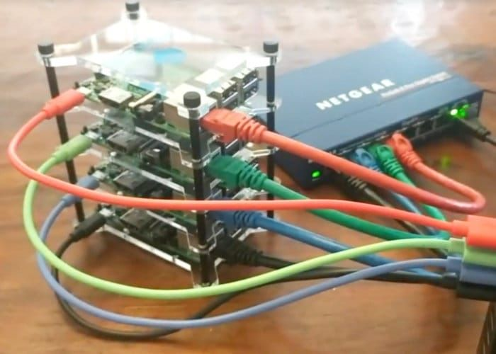 DIY 4-Node Raspberry Pi Cluster Using Python -   Raspberry Pi enthusiasts searching for inspiration to create their next Raspberry Pi project, may be interested in this awesome Raspberry Pi 4-node cluster which has been built by YouTuber and software developer Davy Wybiral. The …