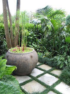 Die Besten 17 Bilder Zu Bali Garden Auf Pinterest | Gärten ... Garten Ideen Tropisch Exotisch Bilder