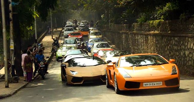 Parade Supercars Meet The Streets Of Mumbai Super Car Club
