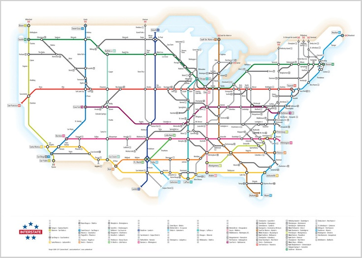 Best Maps Of All Sorts Images On Pinterest Maps Basins And - Us interstate highway system map