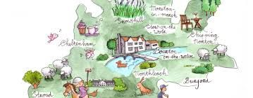 Image result for the cotswolds map