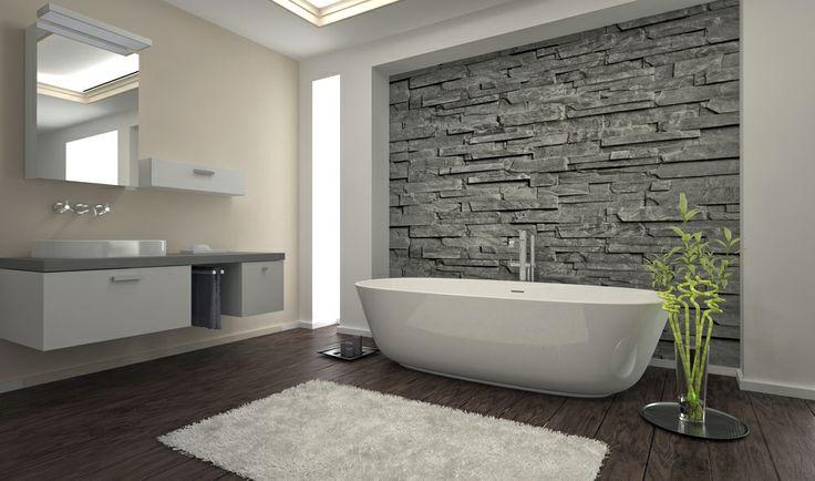 Niet alleen badkamervloeren maar ook wanden worden vaak geschilderd met een betonverf. Op deze manier is de muur gemakkelijk schoon te maken.