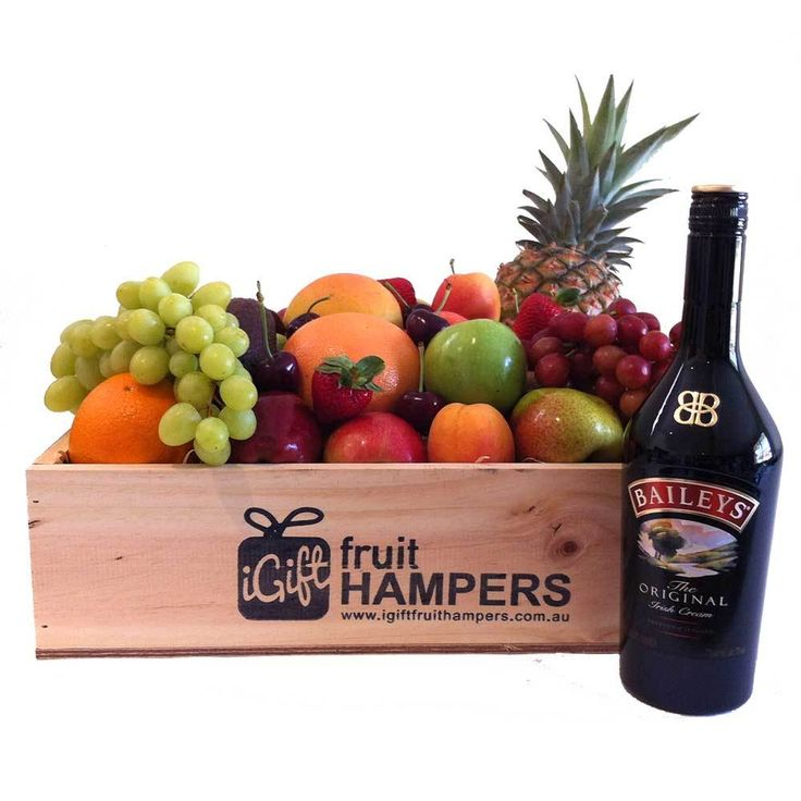 Baileys Irish Cream Hamper: Gift Hamper delivered Australia wide. Contains premium gourmet food and Baileys Irish Cream. A Little Luxury's hampers can be fully customised and personalised online to create the perfect gift. Beautifully presented in a pine wood hamper box.