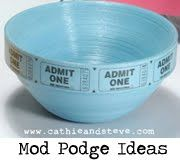 cute to collect tickets: Podge Crafts, Modg Podge, Crafts Ideas, Popcorn Bowls, Gifts Ideas, Admit One, Mod Podge Ideas, Ideas Archives, Clever Mod