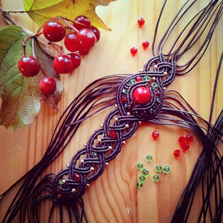 Making new macrame bracelet with autumn mood / Плету новый макраме браслет с…
