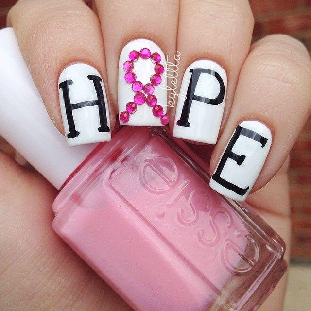 108 best breast cancer awareness nail art images on pinterest kylettta breast cancer awareness nail nails nailart prinsesfo Images