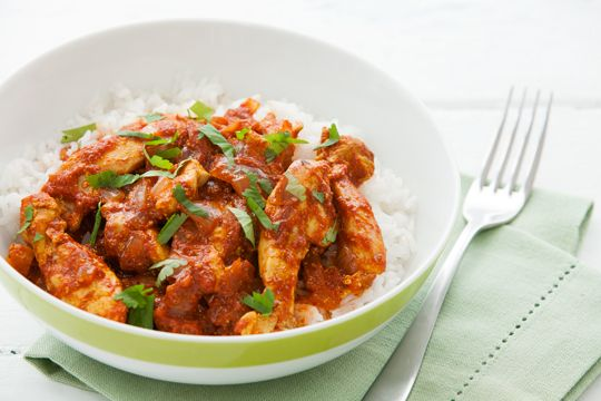 Low fat chicken curry