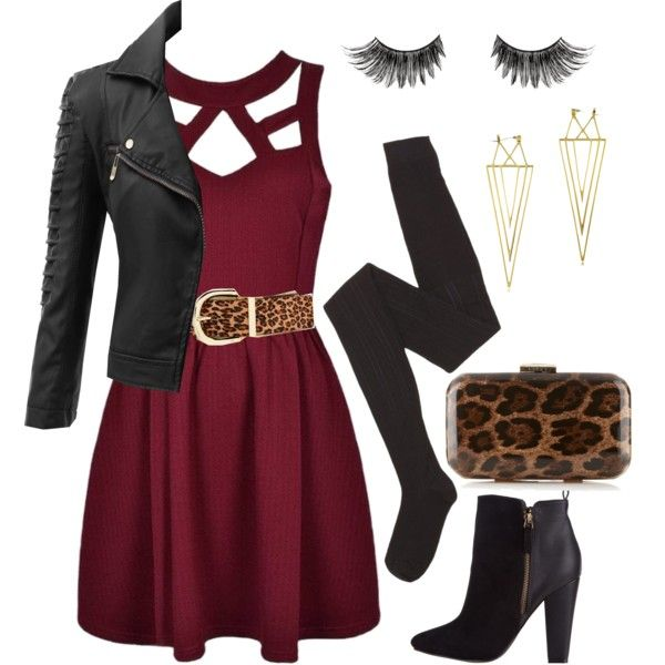 Aria Montgomery inspired outfit for clubbing (cold weather)