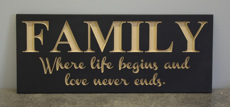20x8 Family where life begins... Sign