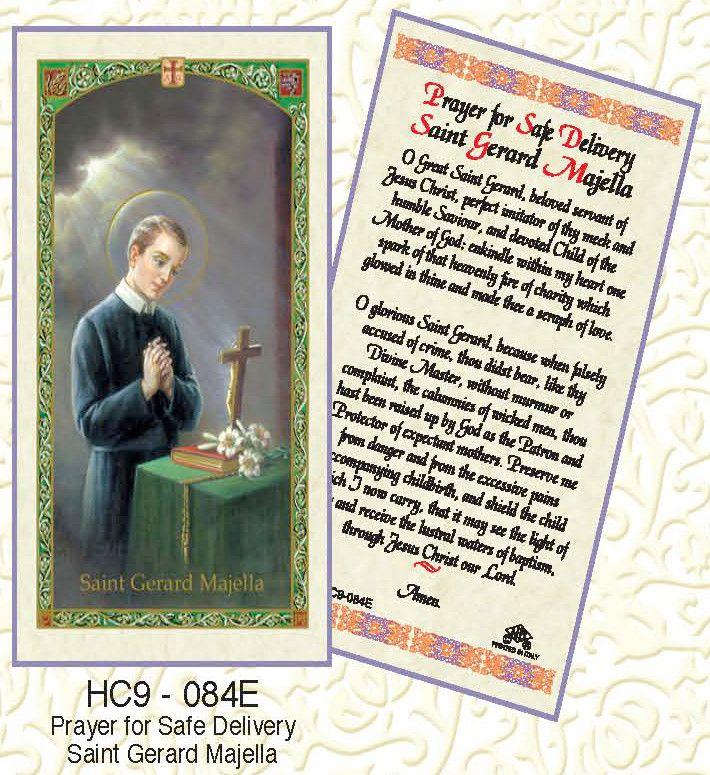 St Gerard Prayer for Safe Delivery