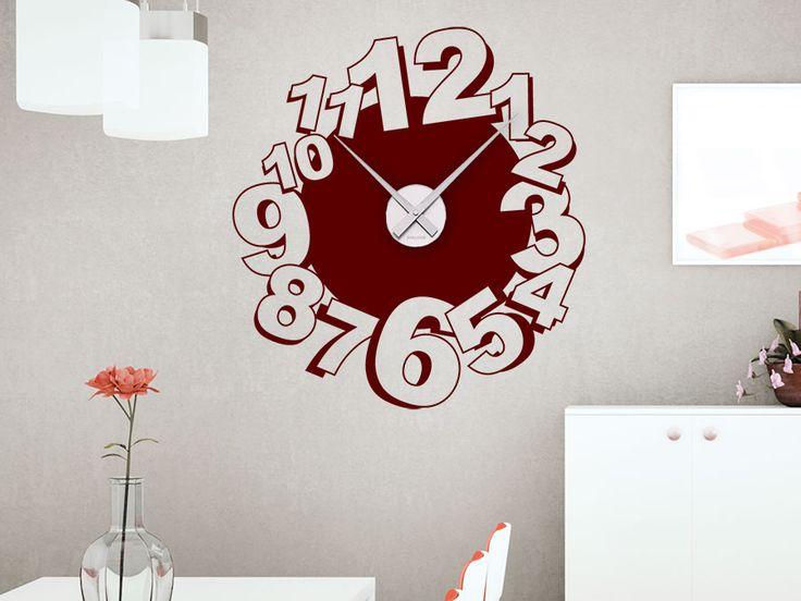 28 besten Wandtattoo Uhren Wanduhren im ausgefallenen Design - schöne wanduhren wohnzimmer
