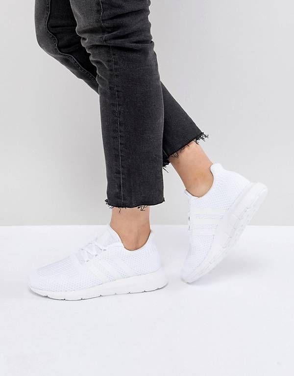 ae27601c1 adidas Originals Swift Run Sneakers In White