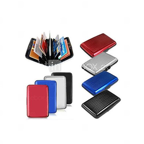 Latest Aluminum Rfid Blocking Credit Card Holder Case / Wallet for Women & Men - Stylish Travel Wallets - Best Protector - USD $ 2.99