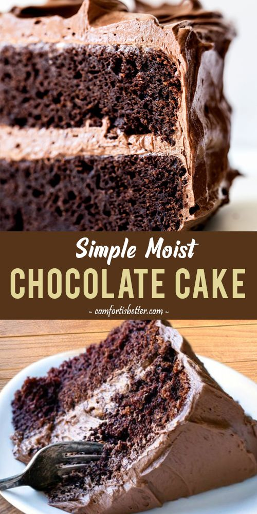 Best Simple Moist Chocolate Cake #chocolatecake #dessert