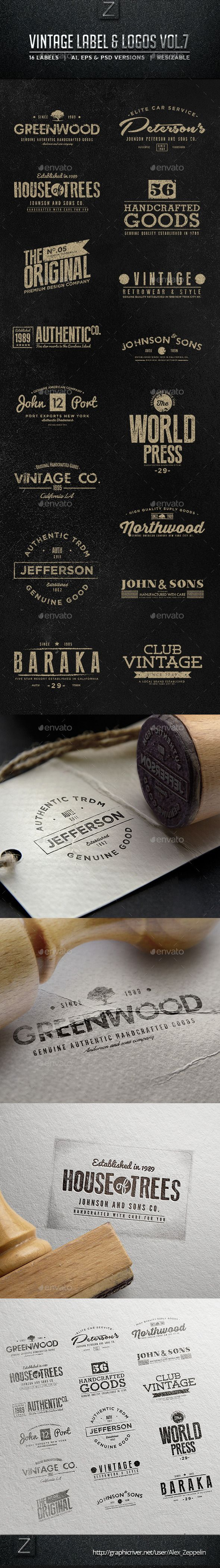 Vintage Labels & Logos | Buy and Download: http://graphicriver.net/item/vintage-labels-logos-vol7/9059520?WT.ac=category_thumb&WT.z_author=Alex_Zeppelin&ref=ksioks