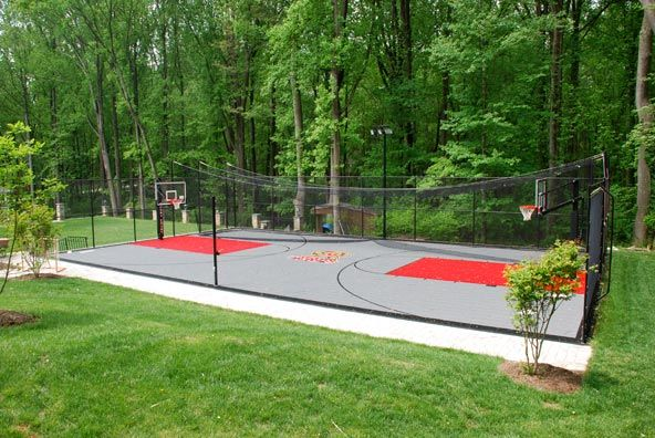 basketball court batting cage general use exterior paint rock landscape ideas. Black Bedroom Furniture Sets. Home Design Ideas