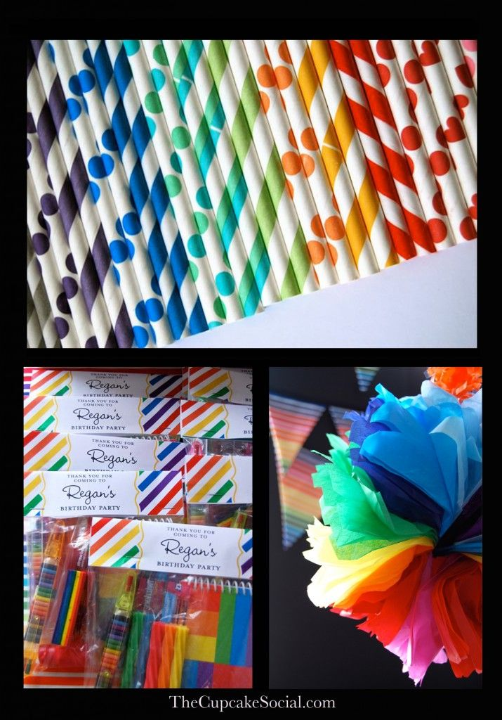 Love the rainbow party pom.