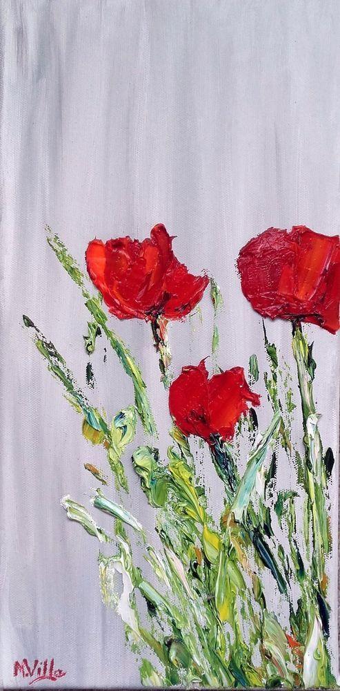 Tableau peinture l huile les coquelicots acheter pinterest les c - Acheter tableau peinture ...