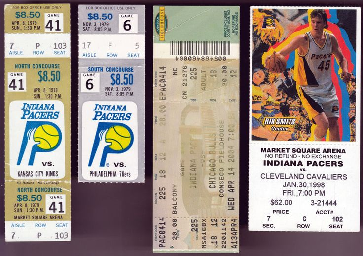LOT OF 4 INDIANA PACERS BASKETBALL TICKET STUBS #TICKETLOT