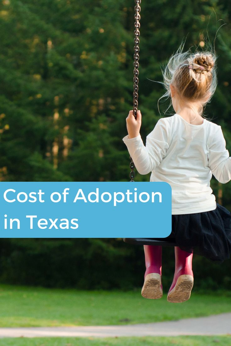 How much does it cost to adopt a child in Texas