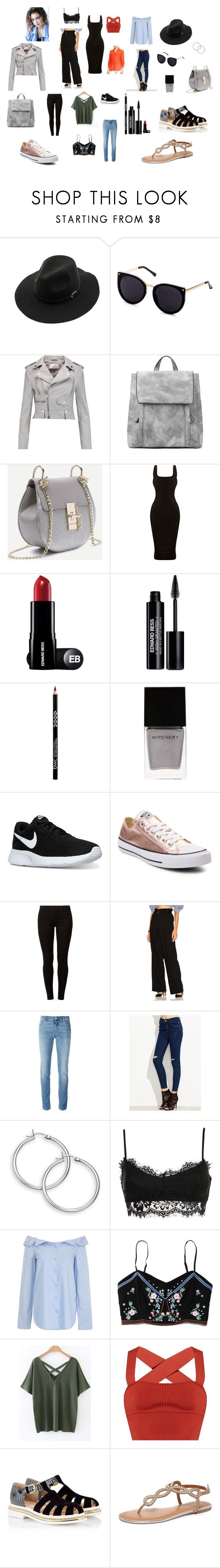"""""""Untitled #1"""" by adriana-isabela-silva on Polyvore featuring WithChic, W118 by Walter Baker, Edward Bess, Witchery, NIKE, Converse, Dorothy Perkins, 3.1 Phillip Lim, Givenchy and TIBI"""
