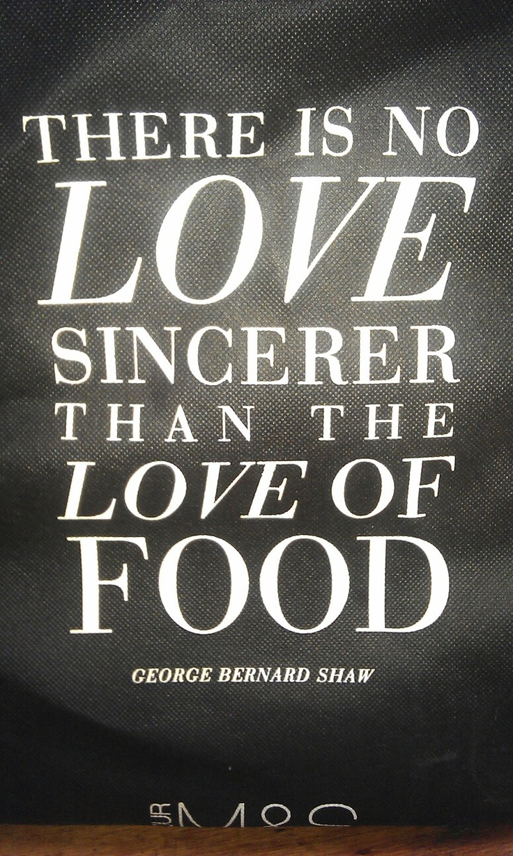"""There is no love sincerer than the love of food"" Eat well and be well with Polaner products polanerallfruit quote lovetoeat cook"