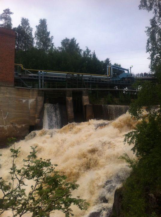 Kyröskoski rapids paikassa Hämeenkyrö, Länsi-Suomen Lääni KOSKINÄYTÖKSET…