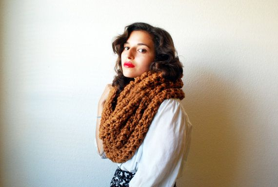 The Oversized Cowl or Hood Hand Knit in Hazelnut by RememberADay