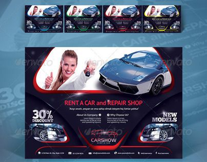 다음 @Behance 프로젝트 확인: \u201cCreative Car Flyer\u201d https://www.behance.net/gallery/11110767/Creative-Car-Flyer
