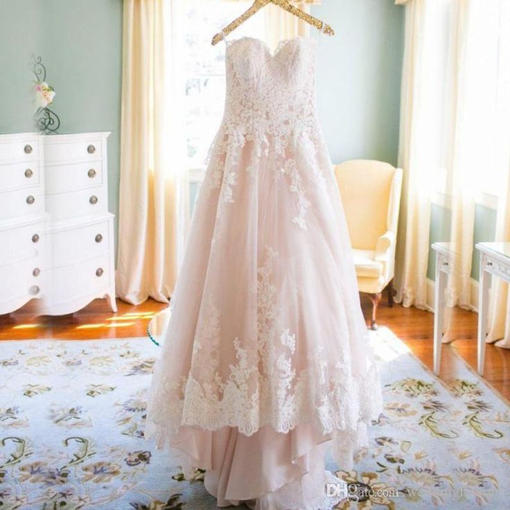Fabulous Country Wedding Dresses 2016 A Line Sweetheart Strapless Vintage Lace Appliques Low Back Bridal Gowns With Sweep Train Custom Made Buy Dresses Online Debenhams Wedding Dresses From Weddingfactory, $160.81| Dhgate.Com